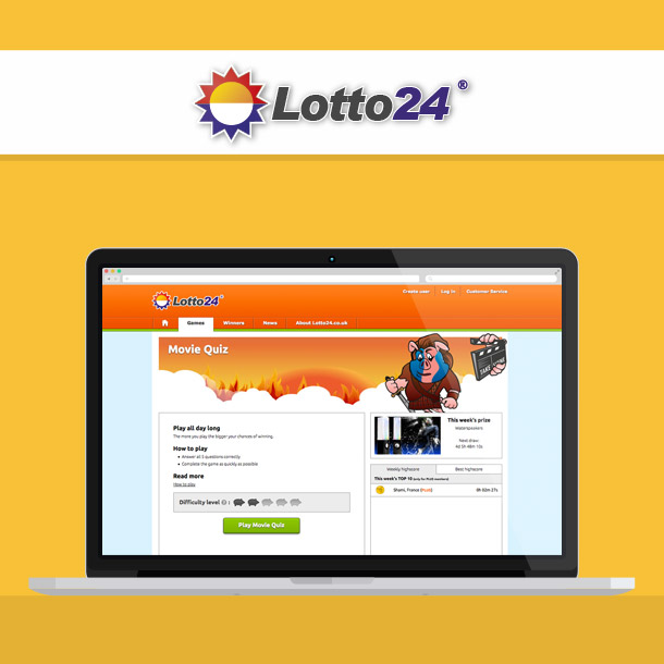 Lotto24 Lottery Website Quiz